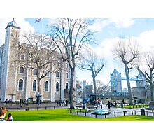 Tower of London and Tower Bridge Photographic Print