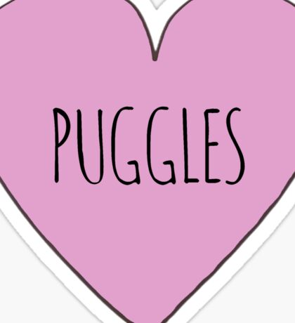 Puggle love Sticker