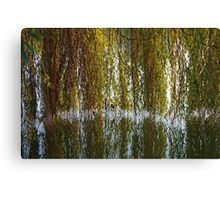 Curtains On The Water Canvas Print