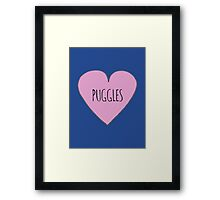 Puggle love Framed Print