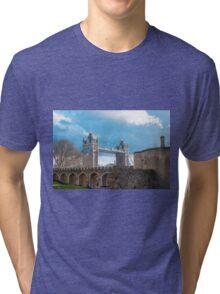 Tower Bridge London in Winter Tri-blend T-Shirt