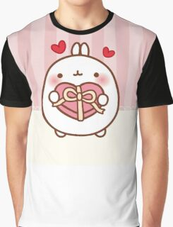 kawaii molang valentine Graphic T-Shirt