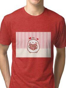 kawaii molang valentine Tri-blend T-Shirt
