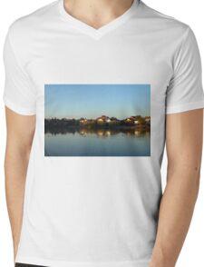 The Duck Line Mens V-Neck T-Shirt