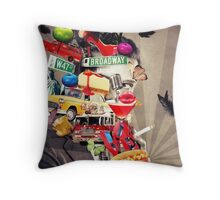 New York devoted Throw Pillow