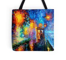 Time Traveller lost in the strange city art painting Tote Bag