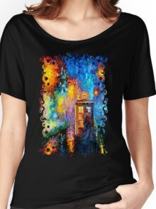 Time Traveller lost in the strange city art painting Women's Relaxed Fit T-Shirt
