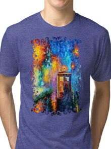 Time Traveller lost in the strange city art painting Tri-blend T-Shirt