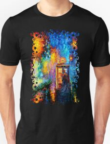 Time Traveller lost in the strange city art painting T-Shirt