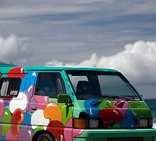 Colourful Transport Hippie Bus by Martin Berry Photography