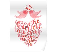 Valentines lettering card  Poster