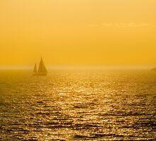 Sunset Sailing by Neil Bushby