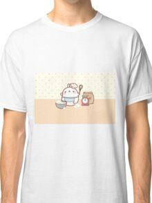 kawaii molang lets bake a cake Classic T-Shirt
