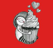 Girl & cupcake Womens Fitted T-Shirt