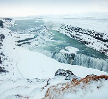 Gullfoss Waterfall in Iceland. by Victoria Ashman