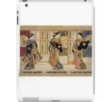 Beauties of the three capitals triptych - Kiyomasu Torii - 1737 iPad Case/Skin
