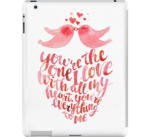 Valentines lettering card  iPad Case/Skin