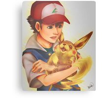 Ash and Pikachu Canvas Print