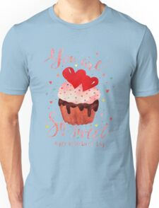 Valentine's day watercolor card Unisex T-Shirt