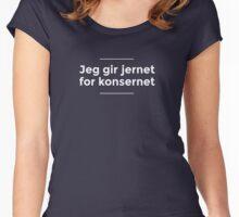 Gi jernet for konsernet! Women's Fitted Scoop T-Shirt
