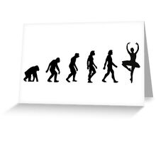 The Evolution of Ballerinas Greeting Card