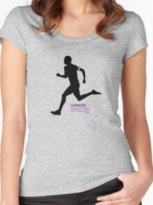 2016 London Marathon Women's Fitted Scoop T-Shirt