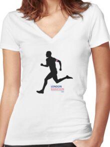2016 London Marathon Women's Fitted V-Neck T-Shirt