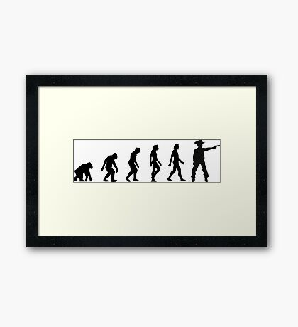 The Evolution of Cowboys Framed Print