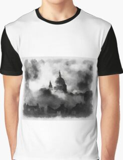 St Pauls During The Blitz by John Springfield Graphic T-Shirt