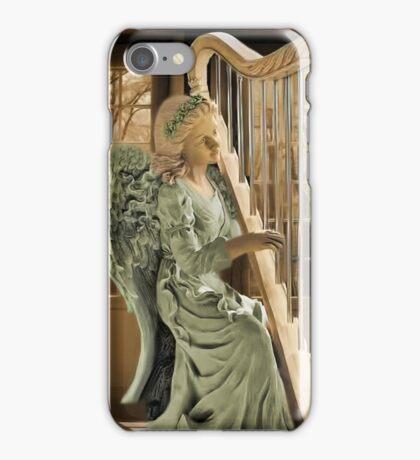 Ƹ̴Ӂ̴Ʒ WINGS OF AN ANGEL PLAYING HARP MUSIC- VARIOUS APPAREL-- PICTURE,PILLOW, AND OR TOTE BAG Ƹ̴Ӂ̴Ʒ iPhone Case/Skin