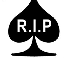 Rest in Peace Ace of Spades Sticker