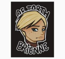 Chibi Brienne of Tarth - Black BG Sticker by BlackLemonJuice