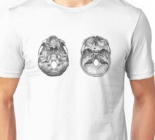 Cutaway skull, top and bottom Unisex T-Shirt