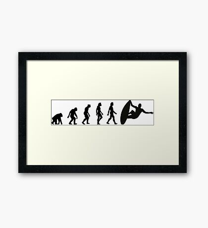 The Evolution of Surfing Framed Print