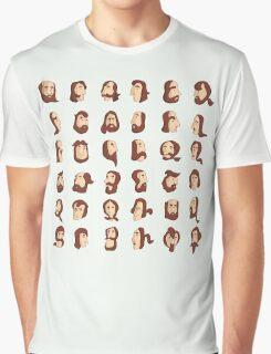 ARMENIAN BEARD ALPHABET ILLUSTRATIVE TYPOGRAPHY Graphic T-Shirt