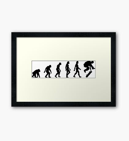 The Evolution of Skateboarding Framed Print