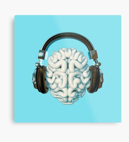Mind Music Connection Metal Print