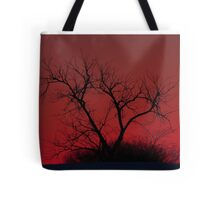 Red sky at night - Bare Tree Tote Bag