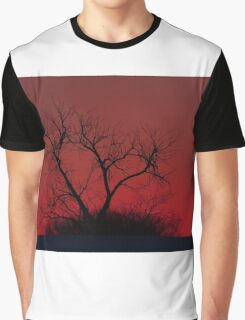 Red sky at night - Bare Tree Graphic T-Shirt