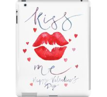 Watercolor lettering Valentine card iPad Case/Skin