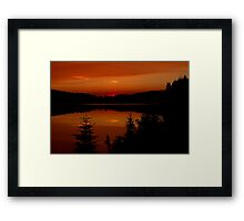 Sunset on Brewer Lake, Algonquin Park Framed Print