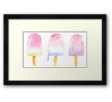 Popsicle sticks Framed Print