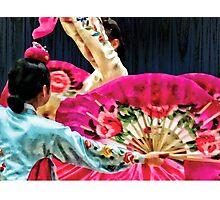 Traditional Korean Fan Dance Photographic Print