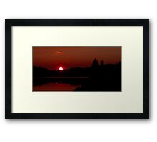Sunset on Algonquin Park Framed Print