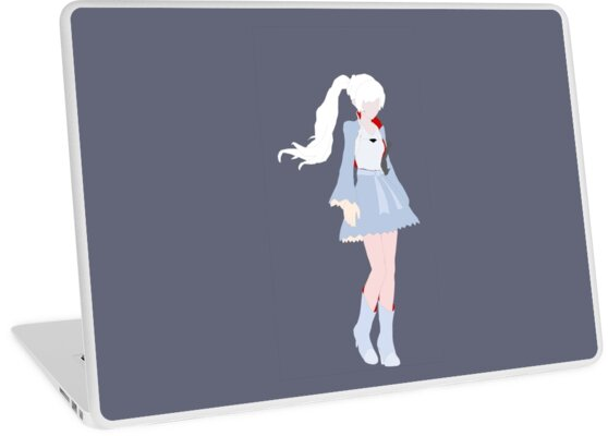 minimalist weiss rwby artwork laptop skins by liamcha redbubble. Black Bedroom Furniture Sets. Home Design Ideas