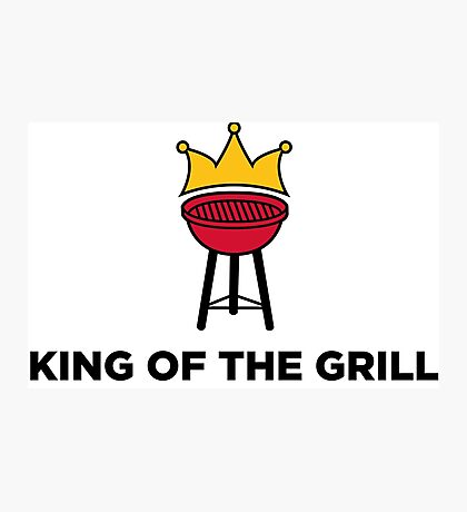The King of the Grill Photographic Print