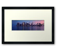 Manhattan panorama at sunrise Framed Print