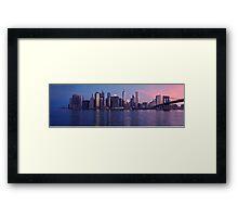 Manhattan panorama at sunrise Framed Print