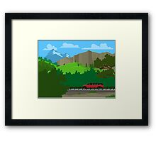 Touring Glacier National Park Framed Print