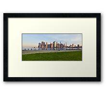 Manhattan sunset  Framed Print